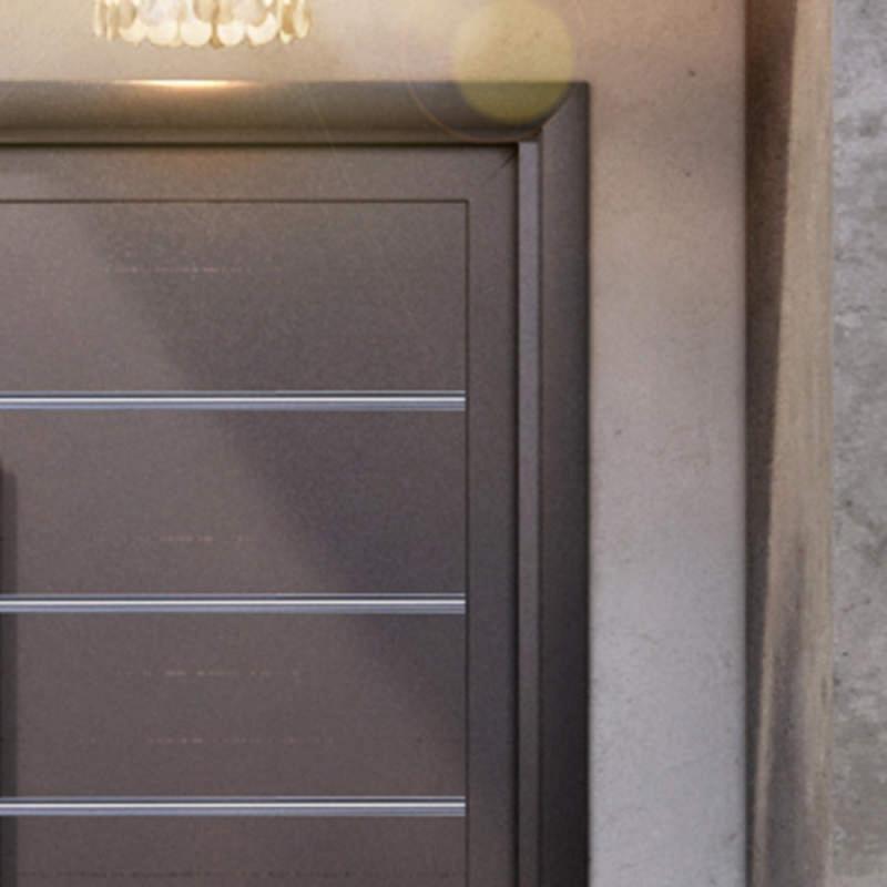 Guarnição para porta pivotante